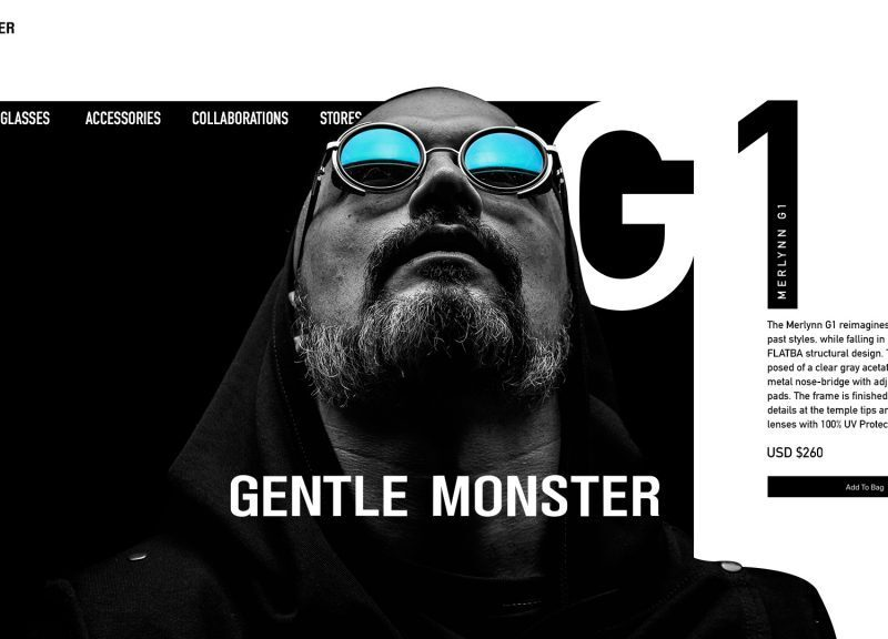Gentle Monster Webpage